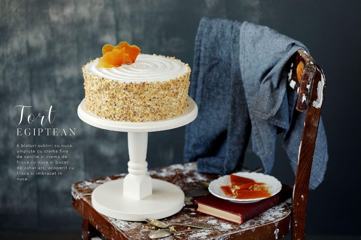 Tort egiptean cu styling fotografie de produs