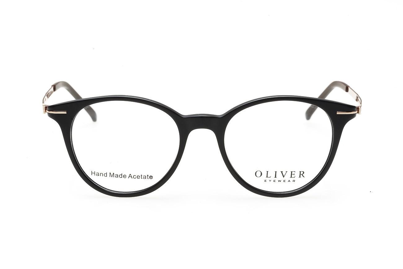 Fotografie de produs cu rama neagra ochelar de vedere pe fundal alb in studio