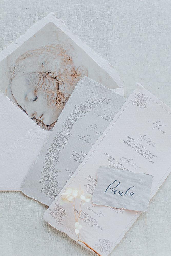 Detali de plic de nuntă și fonturi caligrafice