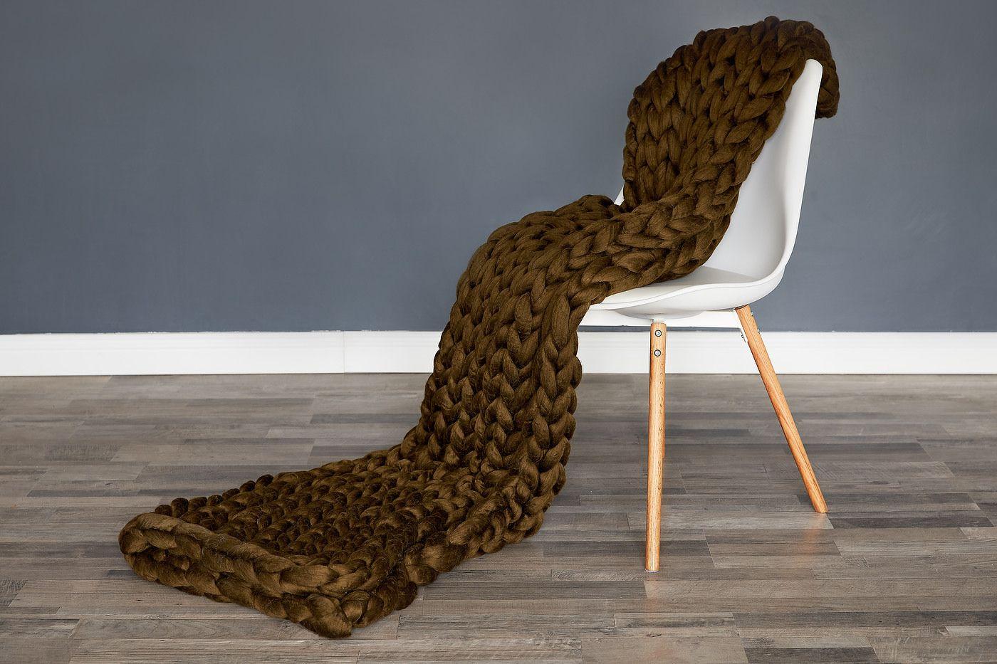 Fotografie de produs-Patura fir gigand pe scaun
